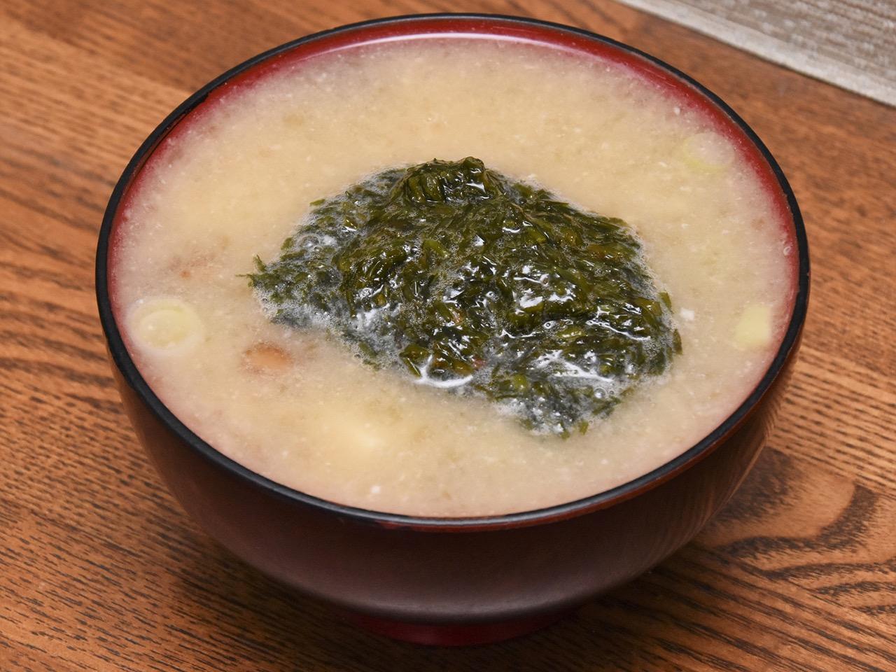 味噌汁と一緒に|ギバサおすすめ食べ方