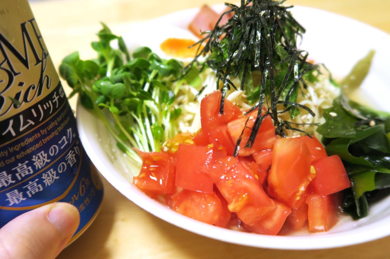 トマトたっぷり|秋田比内地鶏冷やしラーメン