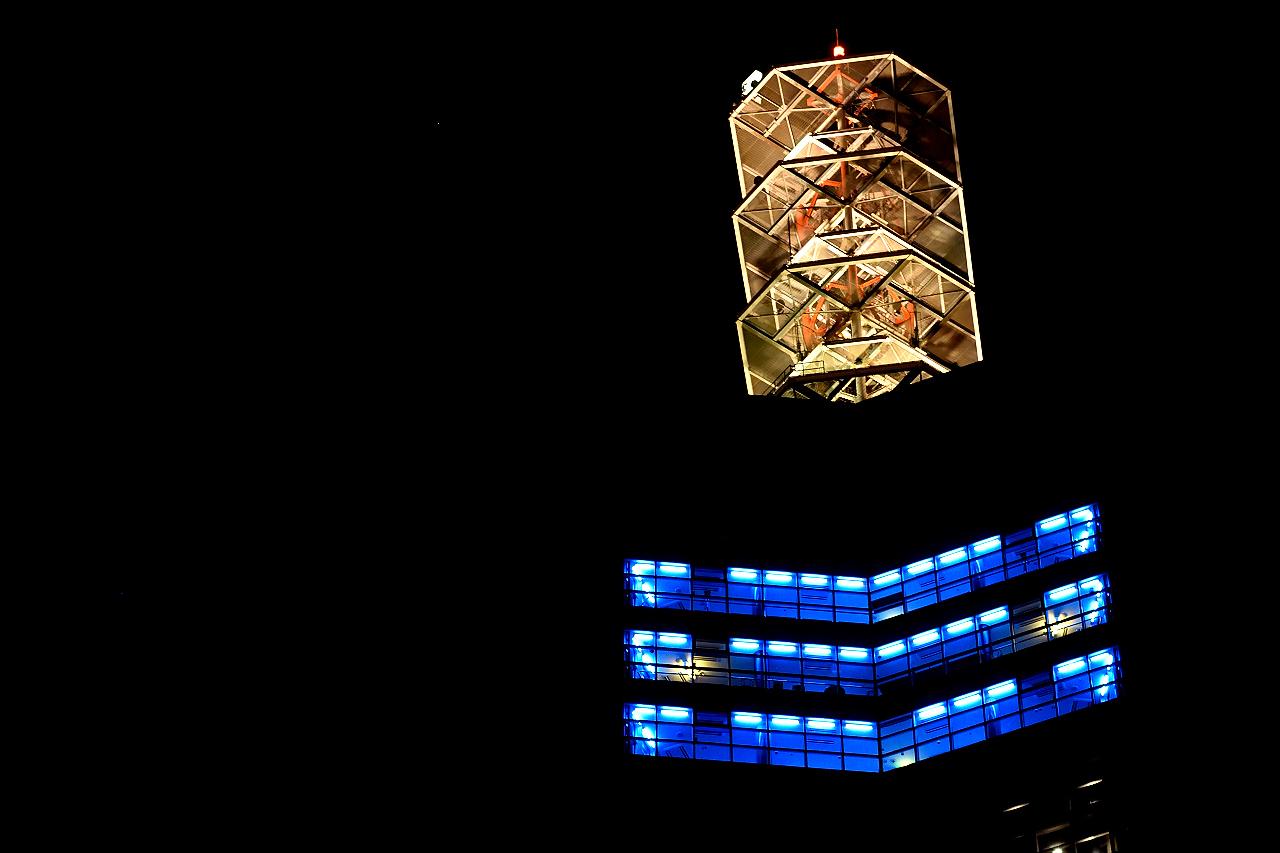 夜景 道の駅あきた港 ポートタワーセリオン|秋田市