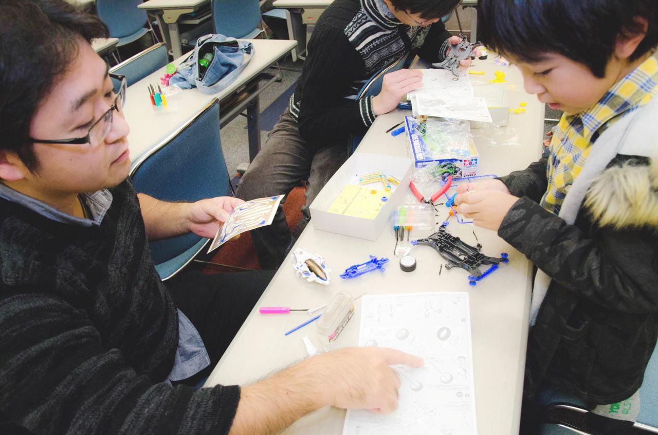 親子制作体験教室|TMP秋田ミニ四駆ファスティバル