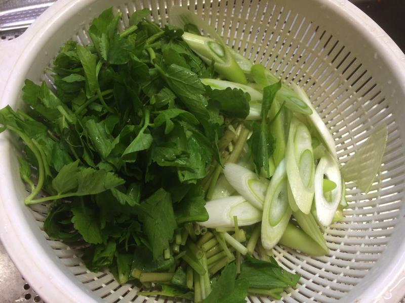 だまっこ鍋に入れる野菜