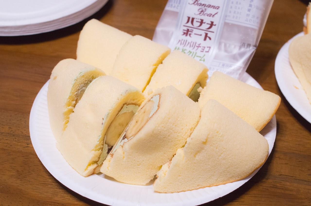 バナナボート パリパリチョコ抹茶クリーム|秋田の人気おすすめローカルスイーツ