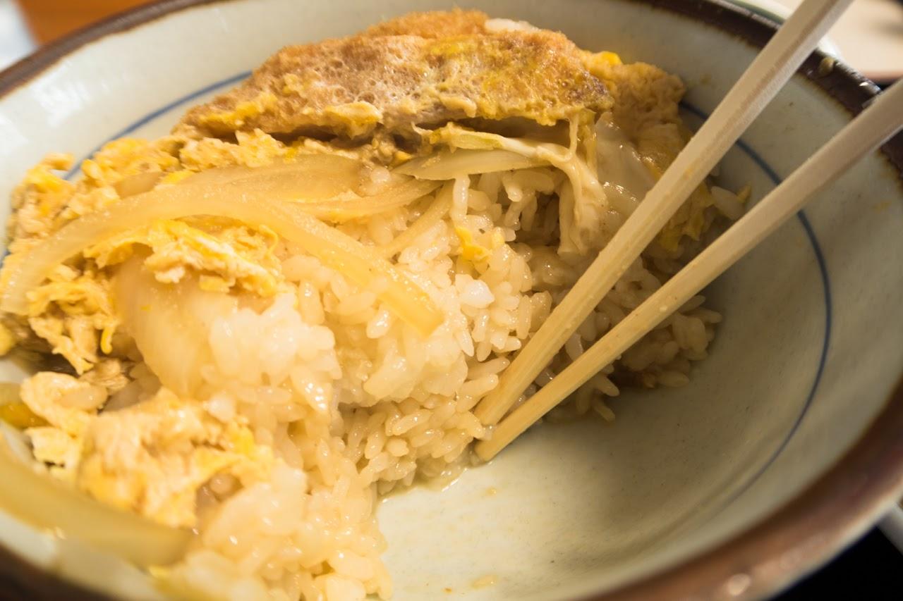 カツ丼のご飯の盛りが良い|舘の丸食堂 秋田
