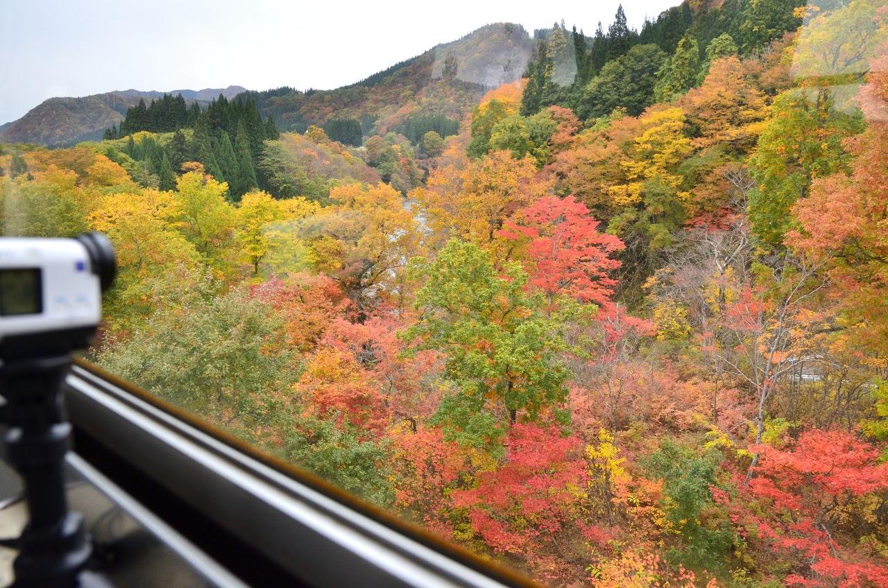 秋田内陸線、車窓からの景色
