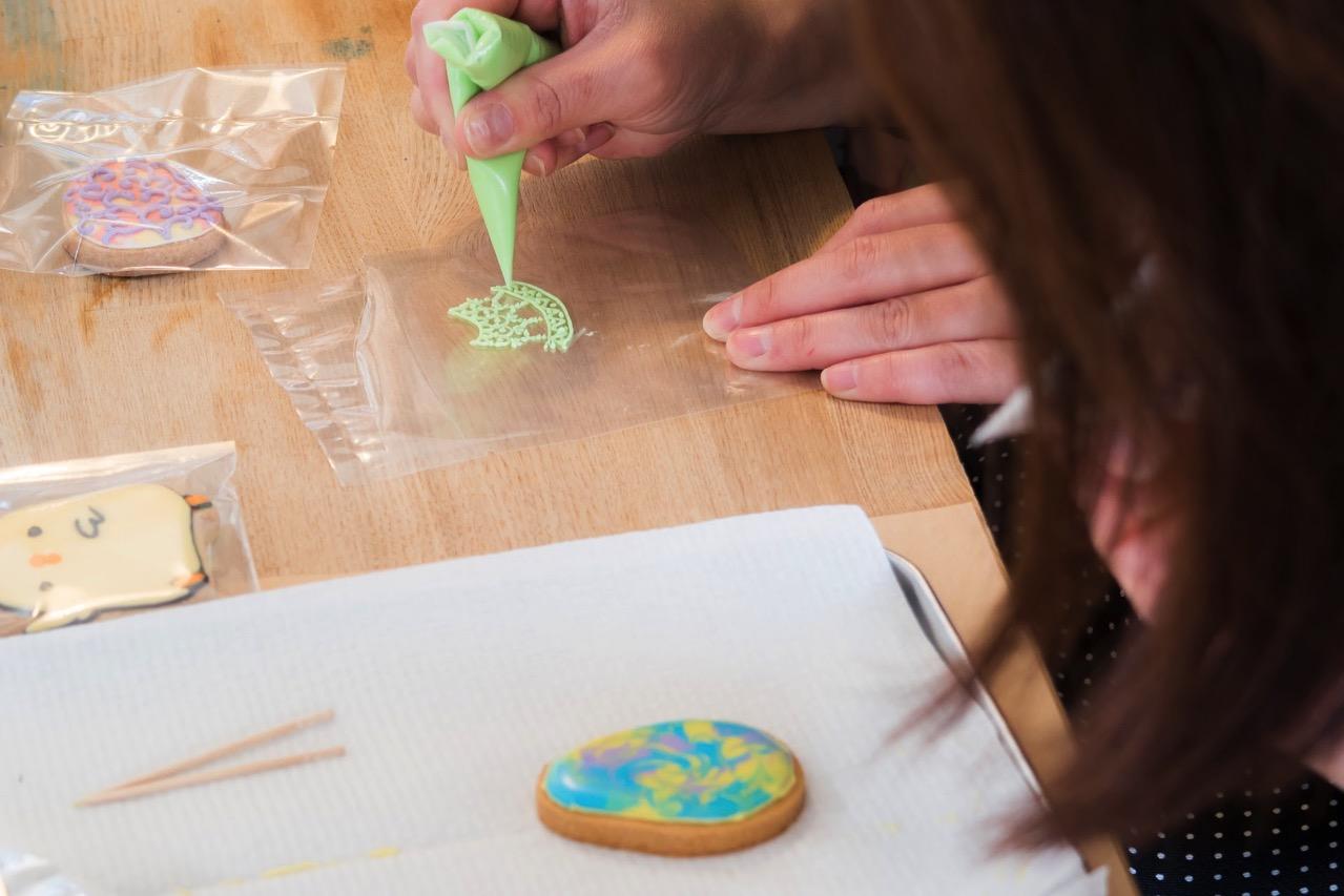 細かい線の書き方 - アイシングクッキー