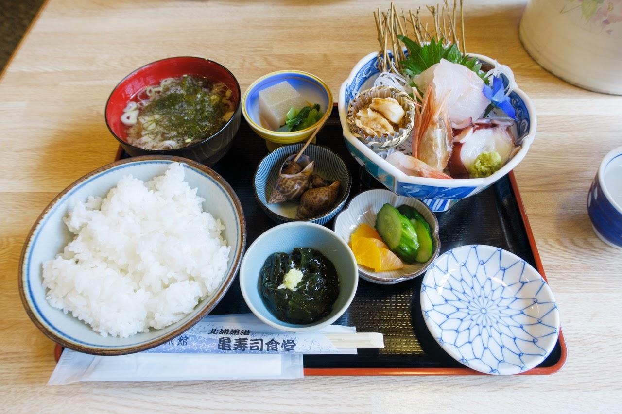 新鮮な海の幸が楽しめる、男鹿市北浦「亀寿司」