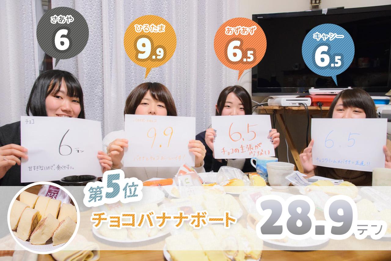 3.チョコバナナボート レビュー結果・感想・評価・評判