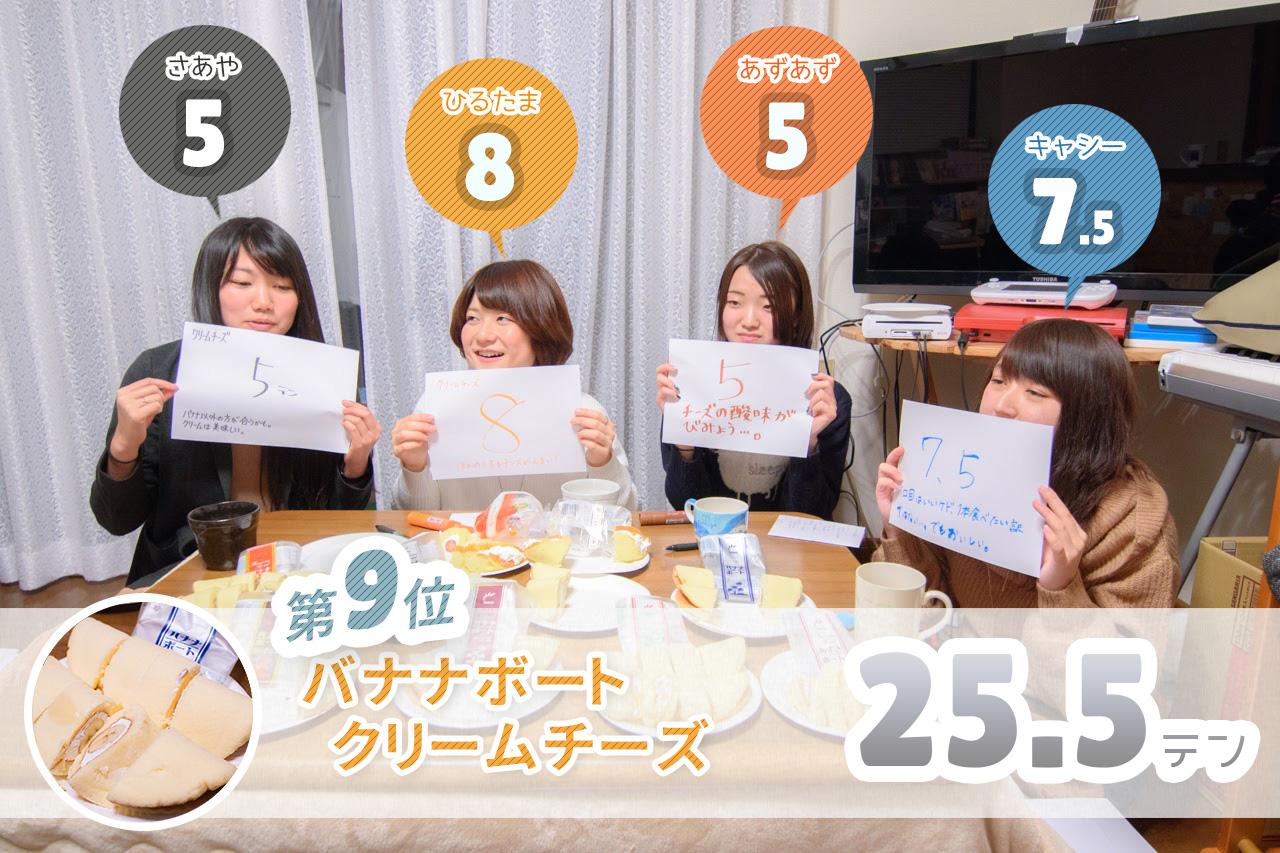 6.バナナボート クリームチーズ レビュー結果・感想・評価・評判